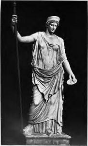 The Barberini Hera statue of Roman origin.