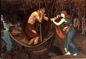 Charon and Psyche (oil on canvas) by Stanhope, John Roddam Spencer (1829-1908) oil on canvas
