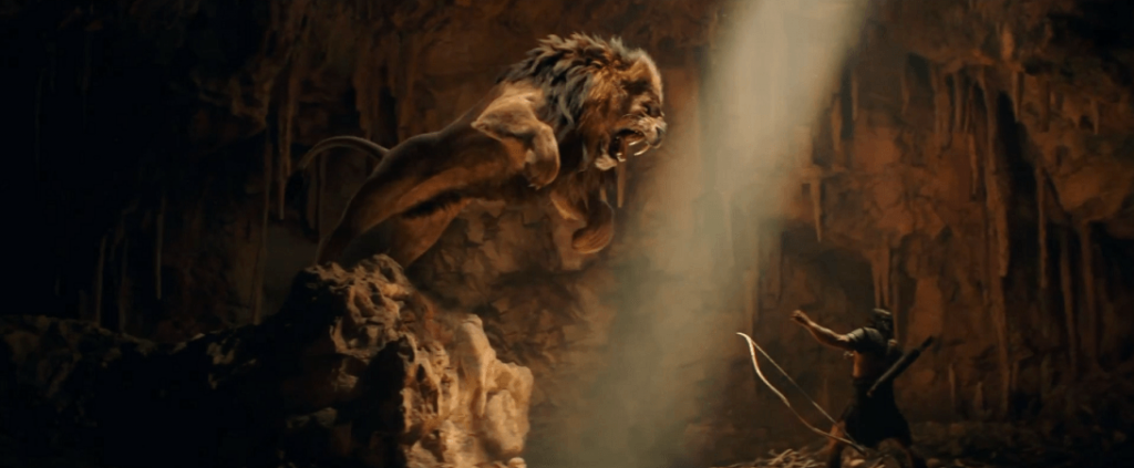 A scene from the 2014 film, Hercules starring Dwayne Johnson.
