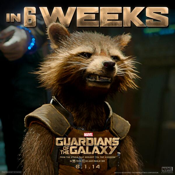 RT @Guardians: Just 6 weeks 'til #GuardiansOfTheGa…