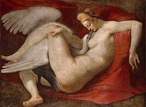 Leda and the Swan, a 16th-century copy by Peter Paul Rubens, after a lost painting by Michelangelo