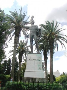 """""""Achilles in Corfu"""" by Dr.K. - Own work. Licensed under CC BY-SA 3.0 via Wikimedia Commons - https://commons.wikimedia.org/wiki/File:Achilles_in_Corfu.jpg#/media/File:Achilles_in_Corfu.jpg"""