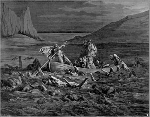 An etching of Charon by Dore.