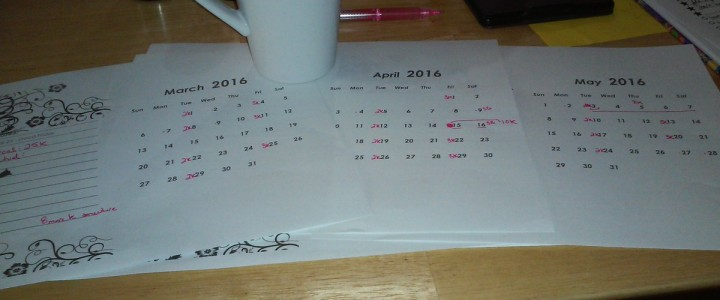 Planning word counts to get a draft done by May. #…